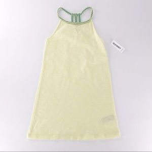 Old Navy Dress Yellow Teal Twist neckline Girl 6/7